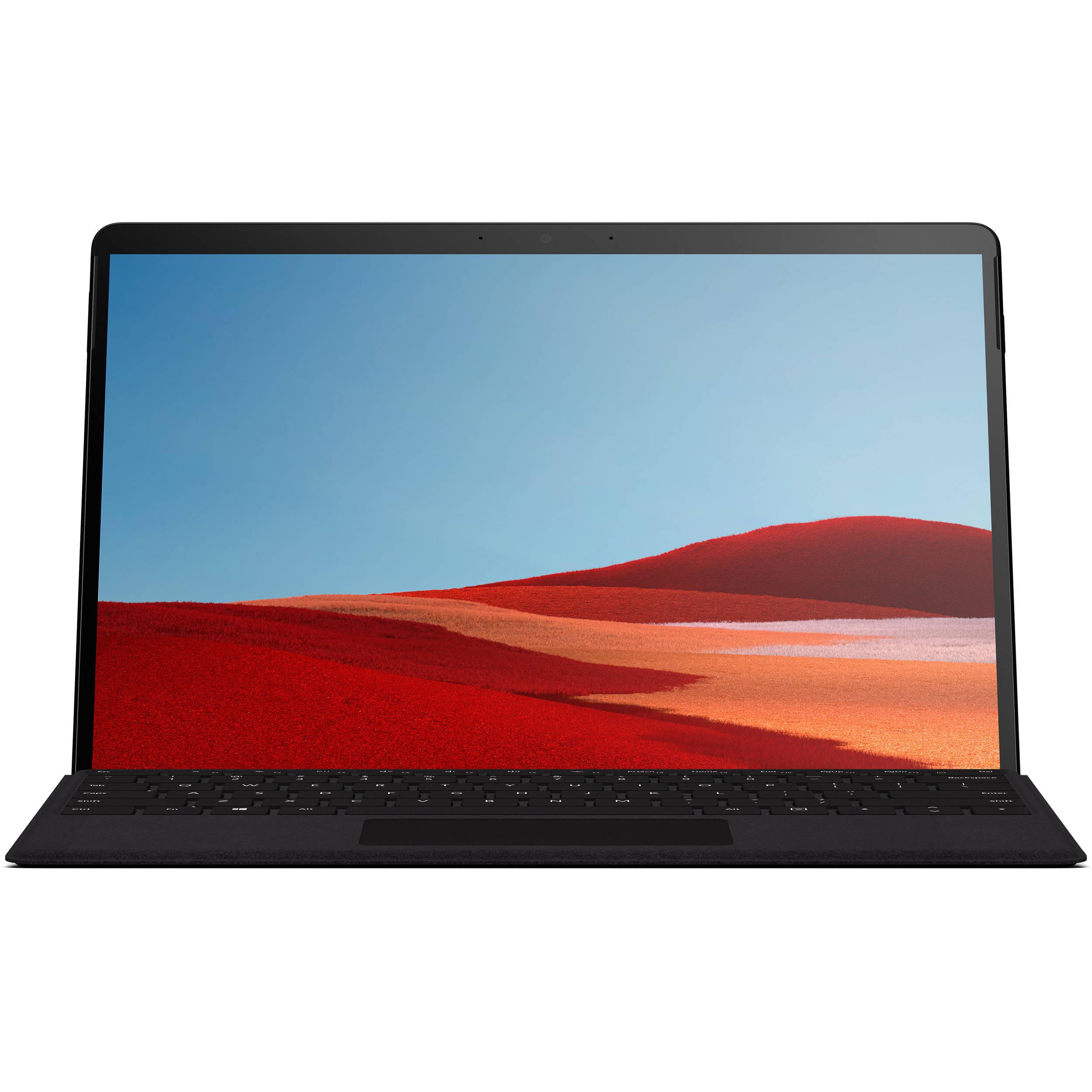 تبلت مایکروسافت مدل Surface Pro X LTE - D ظرفیت 512 گیگابایت به همراه کیبورد Black Type Cover