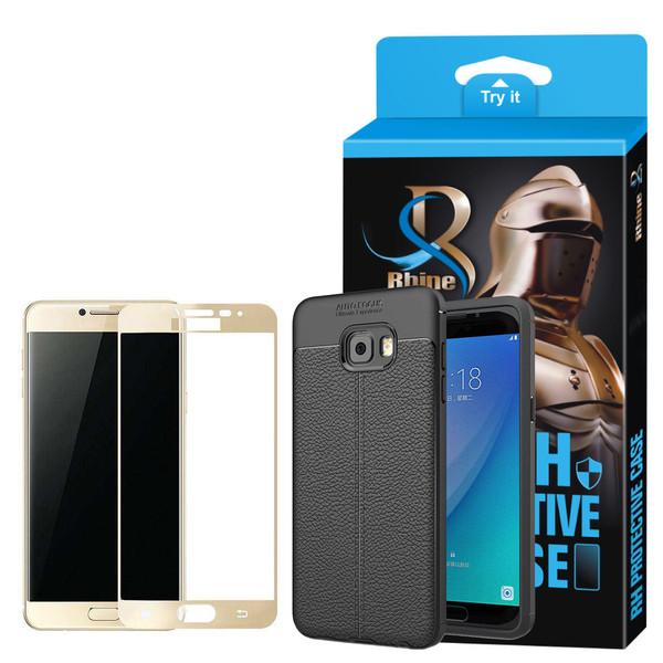 کاور راین مدل R_ATOG مناسب برای گوشی موبایل سامسونگ Galaxy C7 به همراه محافظ صفحه نمایش