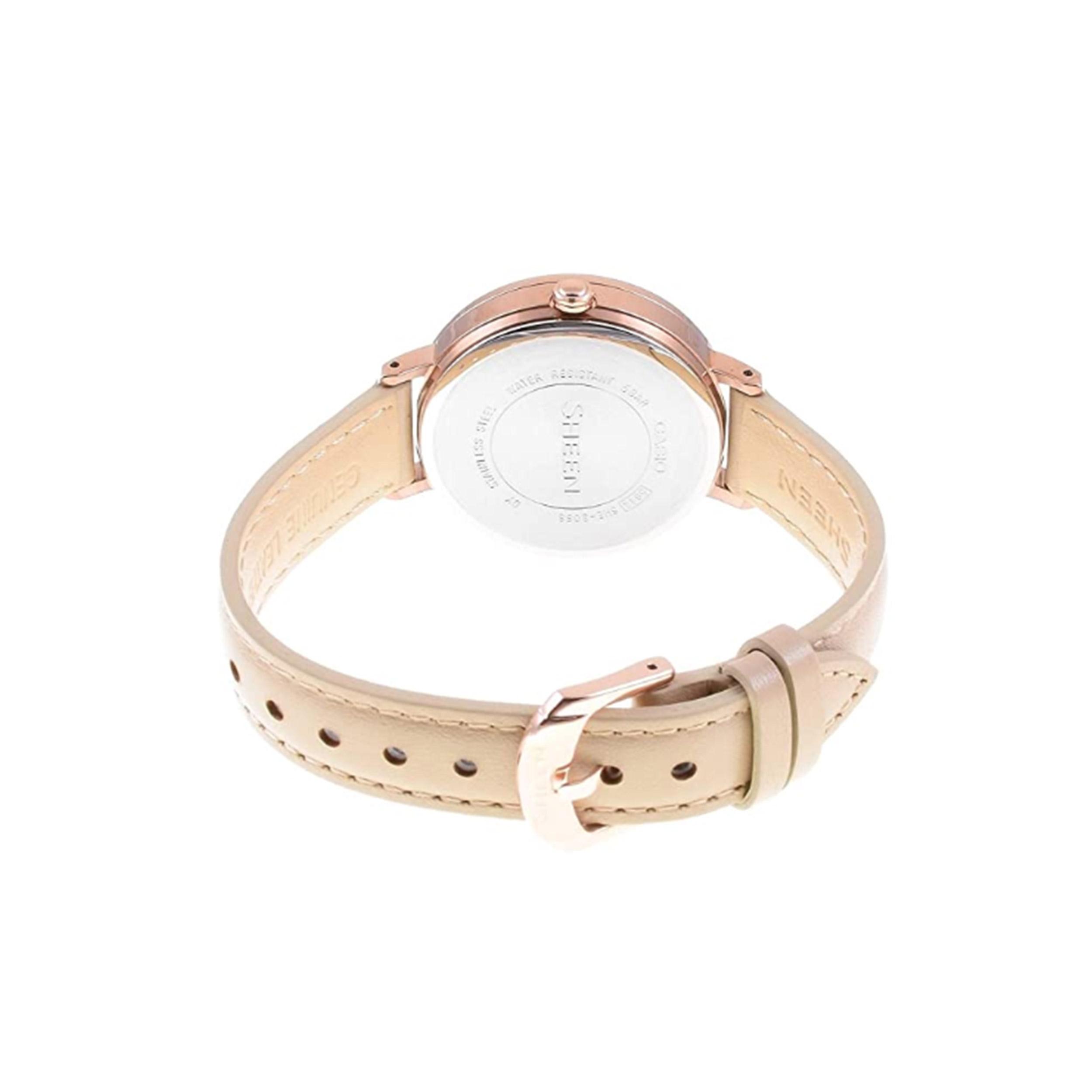 ساعت مچی عقربه ای زنانه کاسیو مدل SHE-3066PGL-7BUDF              ارزان