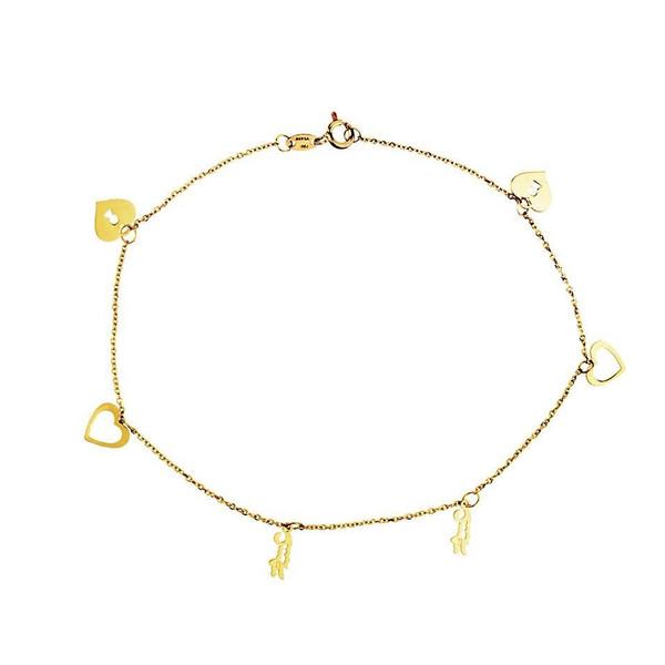 پابند طلا 18 عیار زنانه الن نار مدل eln524