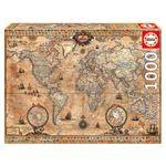 پازل 1000 تکه ادوکا مدل ANTIQUE WORLD MAP