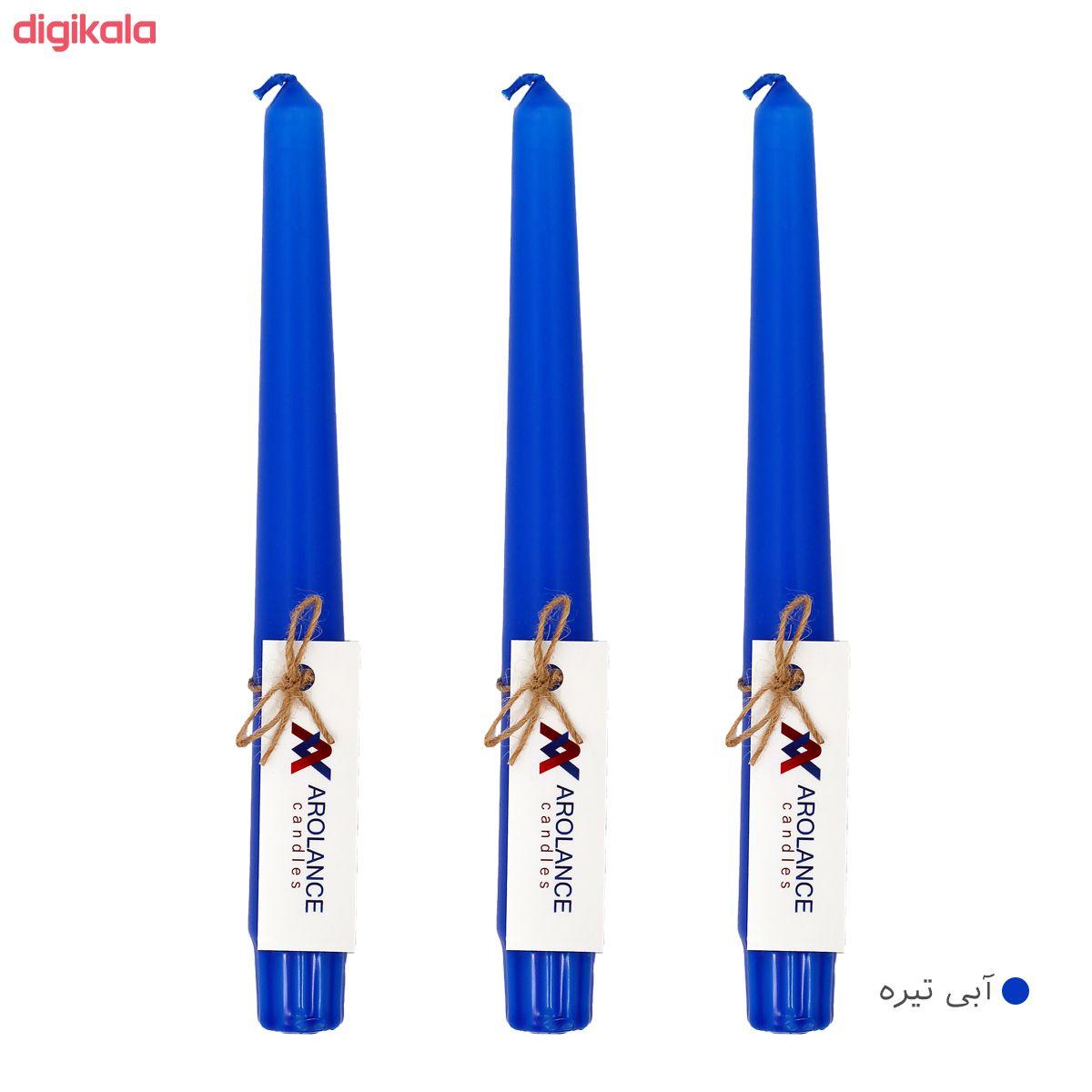 شمع آرولنس طرح قلمی مدل H20 بسته 3 عددی main 1 1
