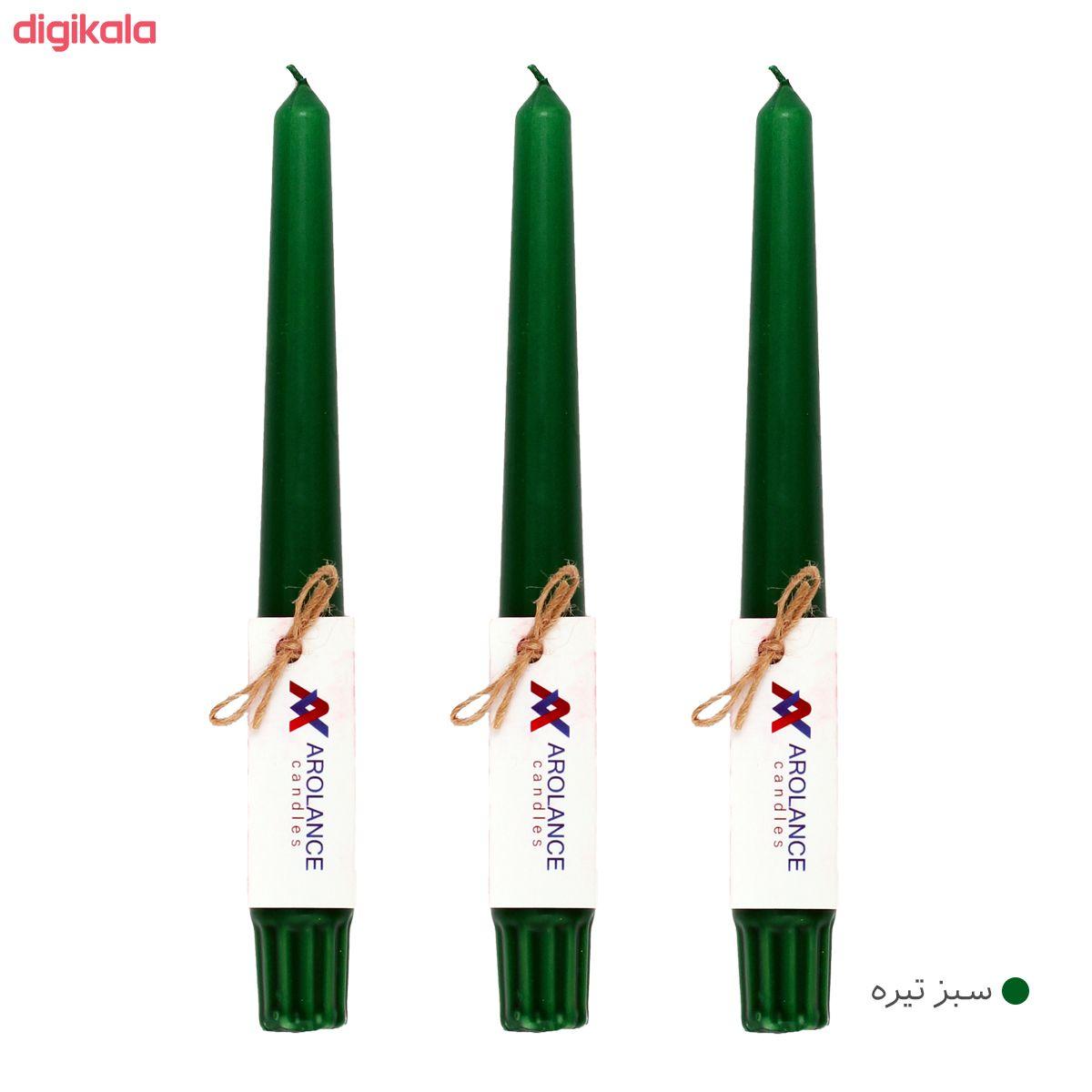 شمع آرولنس طرح قلمی مدل H20 بسته 3 عددی main 1 8