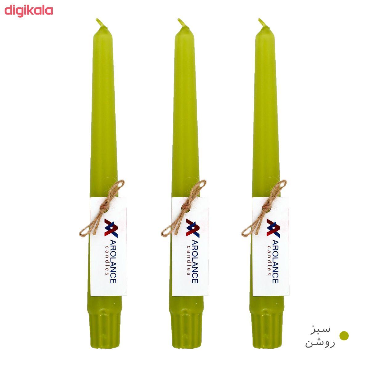 شمع آرولنس طرح قلمی مدل H20 بسته 3 عددی main 1 7