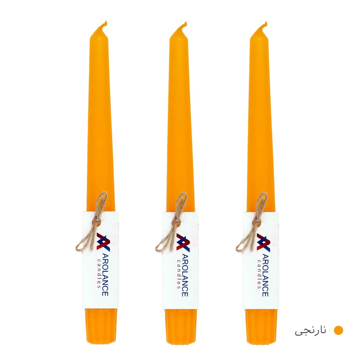 شمع آرولنس طرح قلمی مدل H20 بسته 3 عددی main 1 5