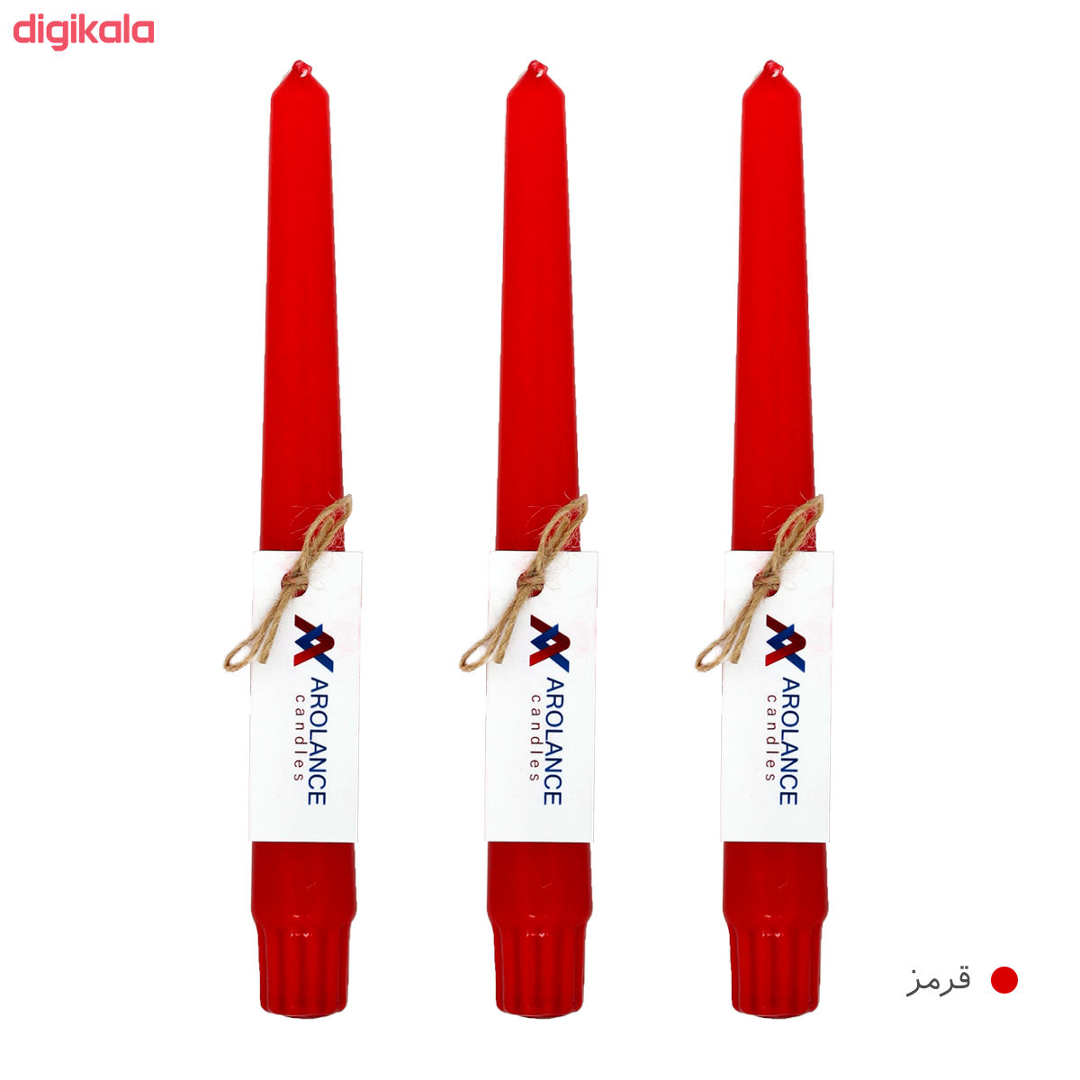 شمع آرولنس طرح قلمی مدل H20 بسته 3 عددی main 1 3