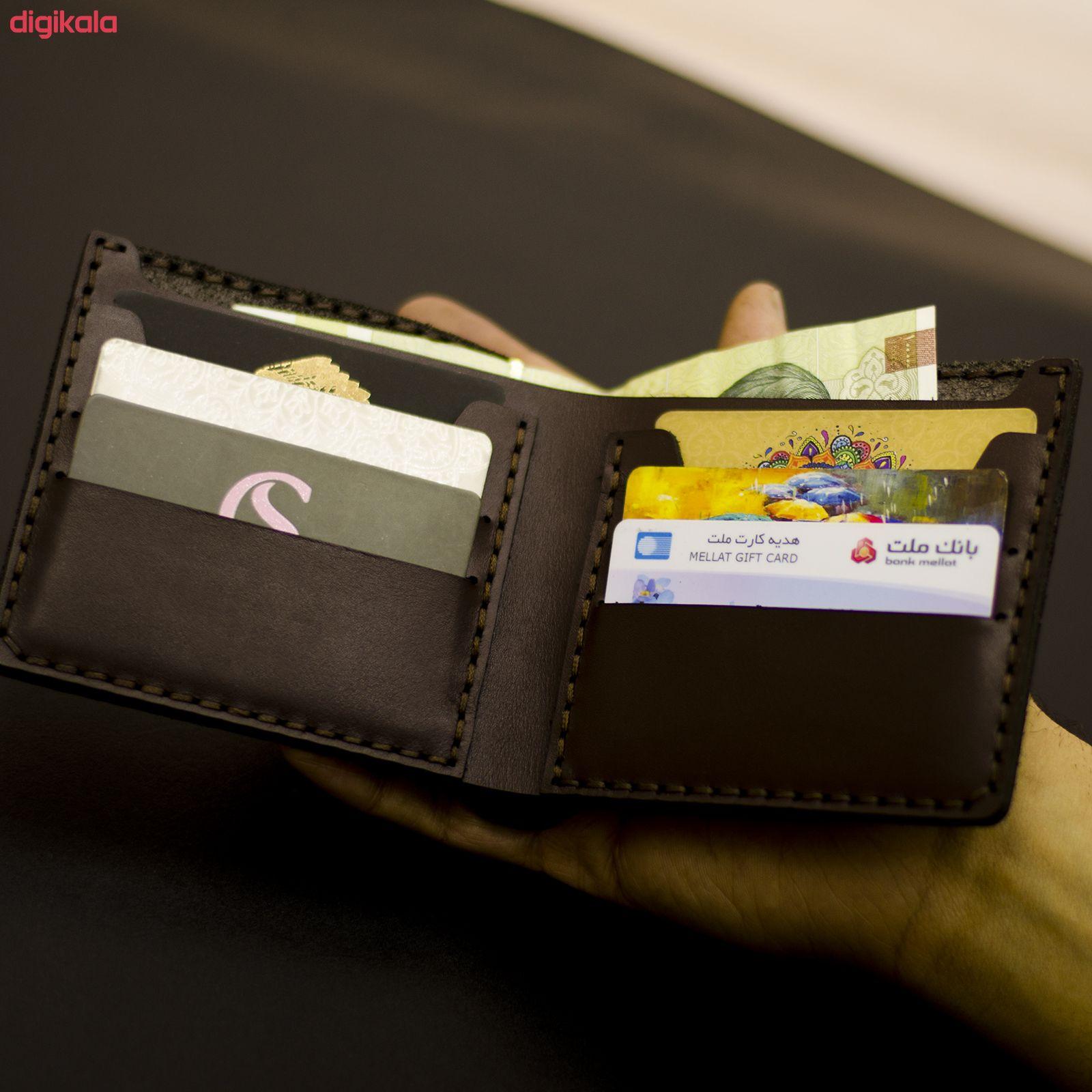 کیف پول مردانه چرمینه اسپرت طرح منچستریونایتد کد 7007 main 1 3