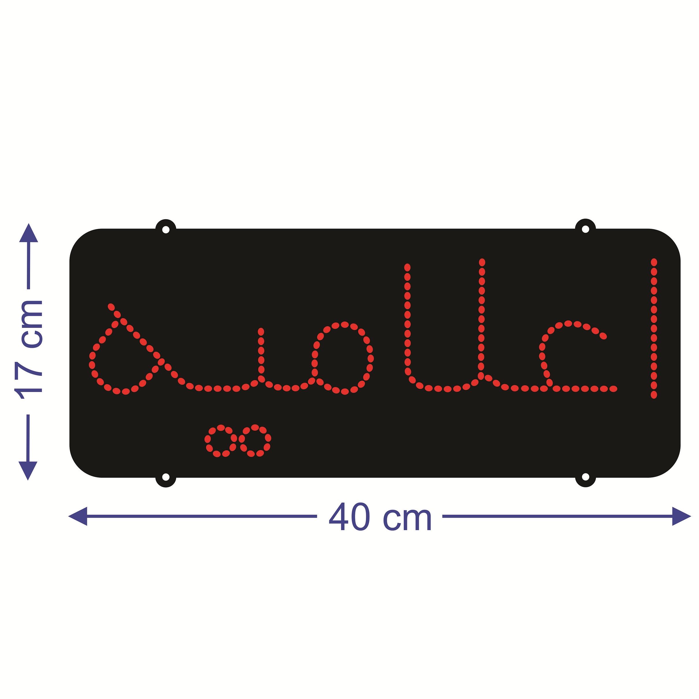 قیمت                      تابلو ال ای دی طرح اعلامیه کد ۱۶۳