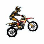 برچسب بدنه موتور سیکلت طرح MOTOR کد 02