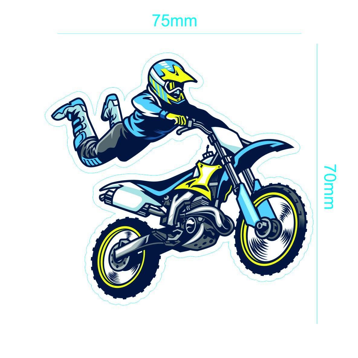 برچسب بدنه موتور سیکلت طرح MOTOR کد06