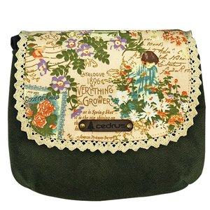 کیف رو دوشی سدروس مدل گل اطلسی