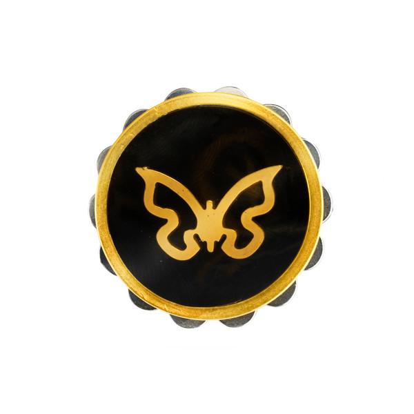 گیره روسری عالیانی طرح پروانه کد 22