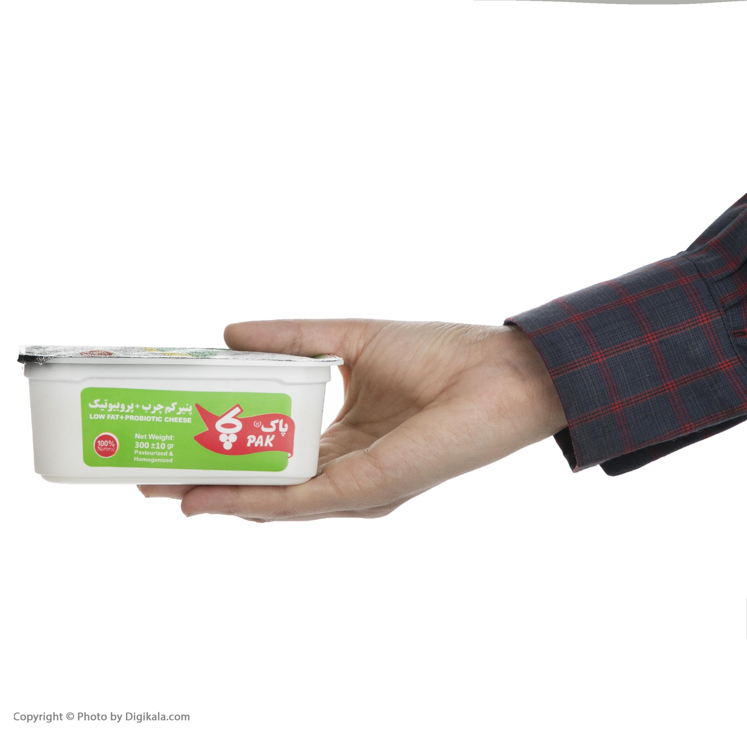 پنیر کم چرب پروبیوتیک پاک - 300 گرم  main 1 3