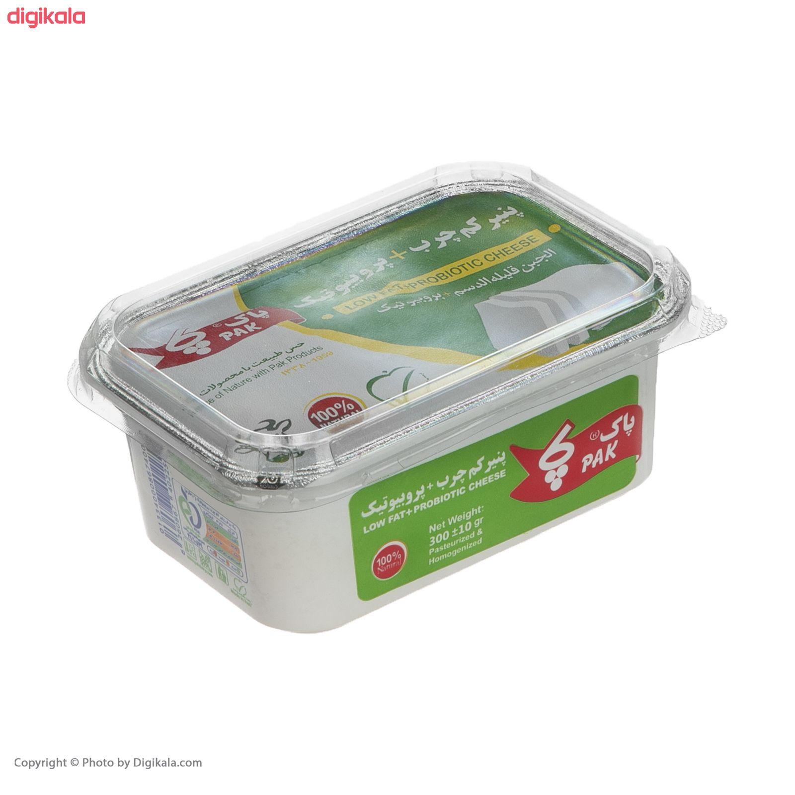 پنیر کم چرب پروبیوتیک پاک - 300 گرم  main 1 6