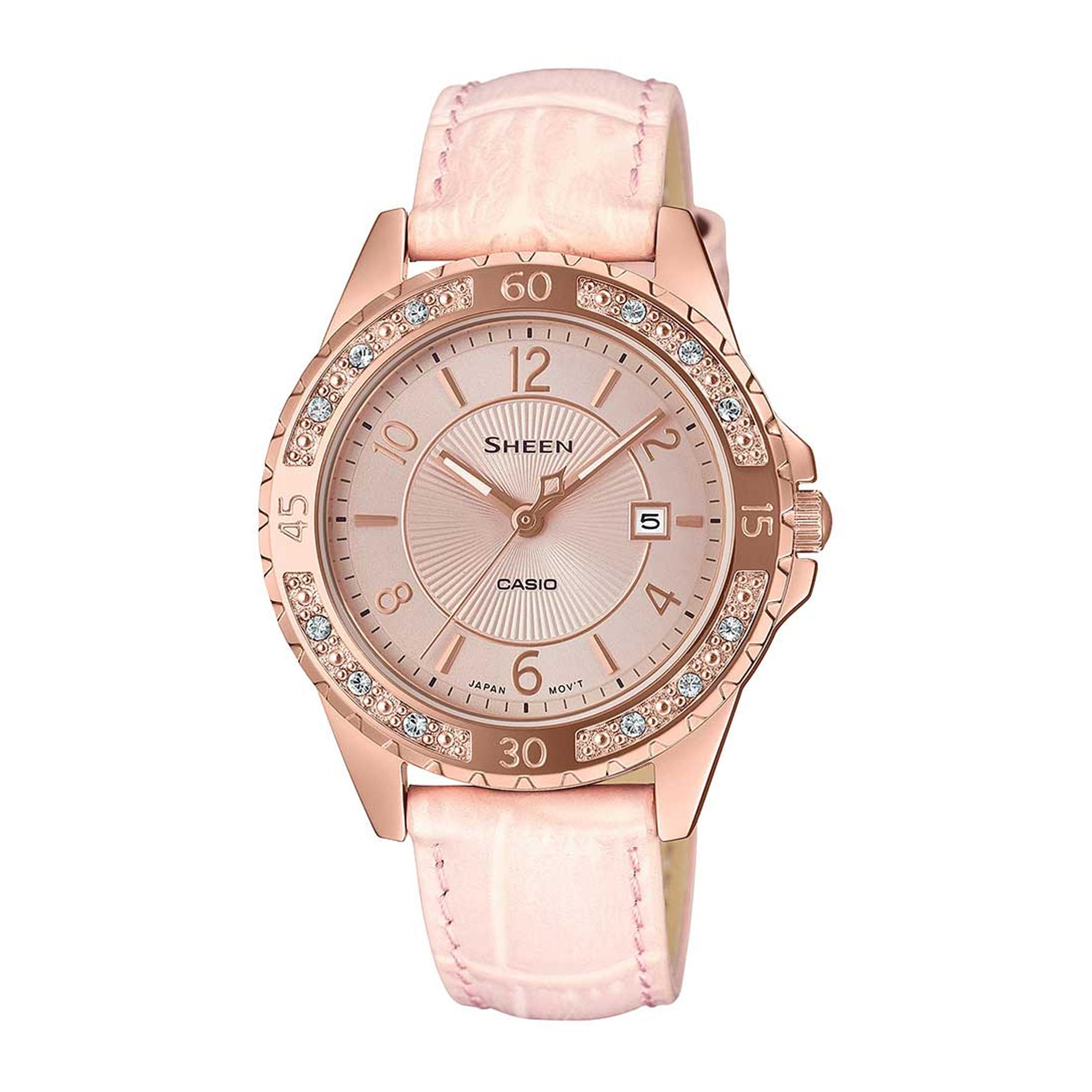 ساعت مچی عقربه ای زنانه کاسیو مدل SHE-4532PGL-4AUDF              ارزان