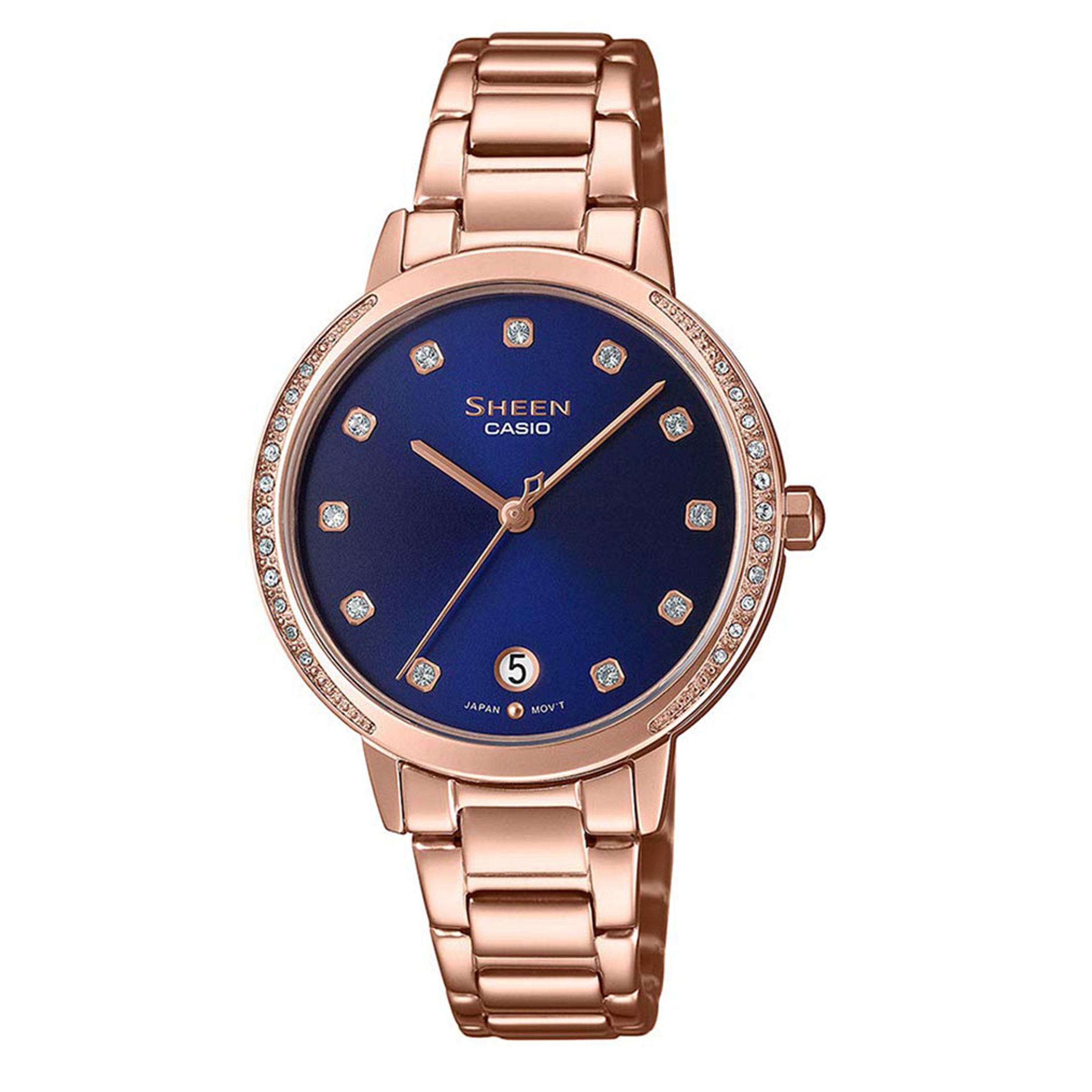 ساعت مچی عقربه ای زنانه کاسیو مدل SHE-4056PG-2AUDF              ارزان