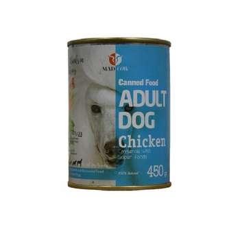 کنسرو غذای سگ مدکاو مدل Adult Dog Chicken وزن 450 گرم