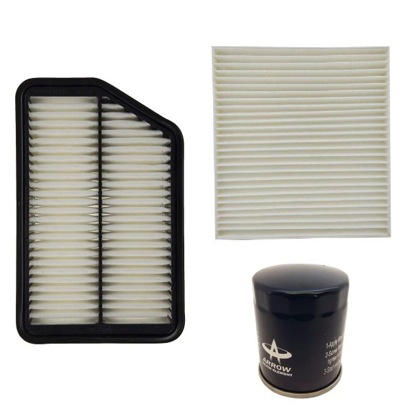 فیلتر روغن خودرو آرو مدل AF50743 مناسب برای چانگان CS35 به همراه فیلتر کابین و فیلتر هوا