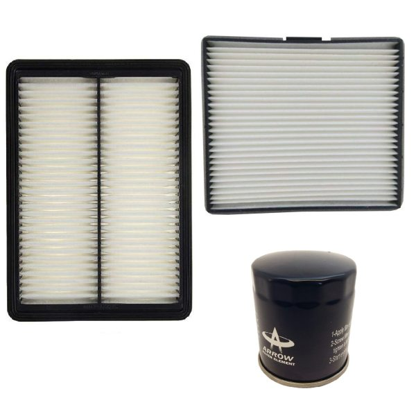 فیلنر روغن خودرو آرو مدل AF50755 مناسب برای جک J5 به همراه فیلتر کابین و فیلتر هوا