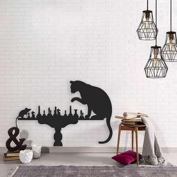 استیکر چوبی طرح گربه ۱