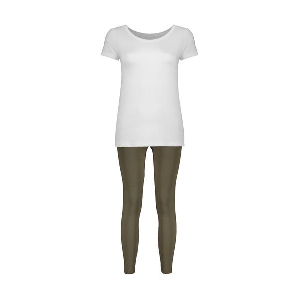 ست تی شرت و شلوار زنانه سون پون مدل 2391121-01