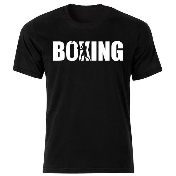 تی شرت آستین کوتاه مردانه طرح بوکس  کد 34380