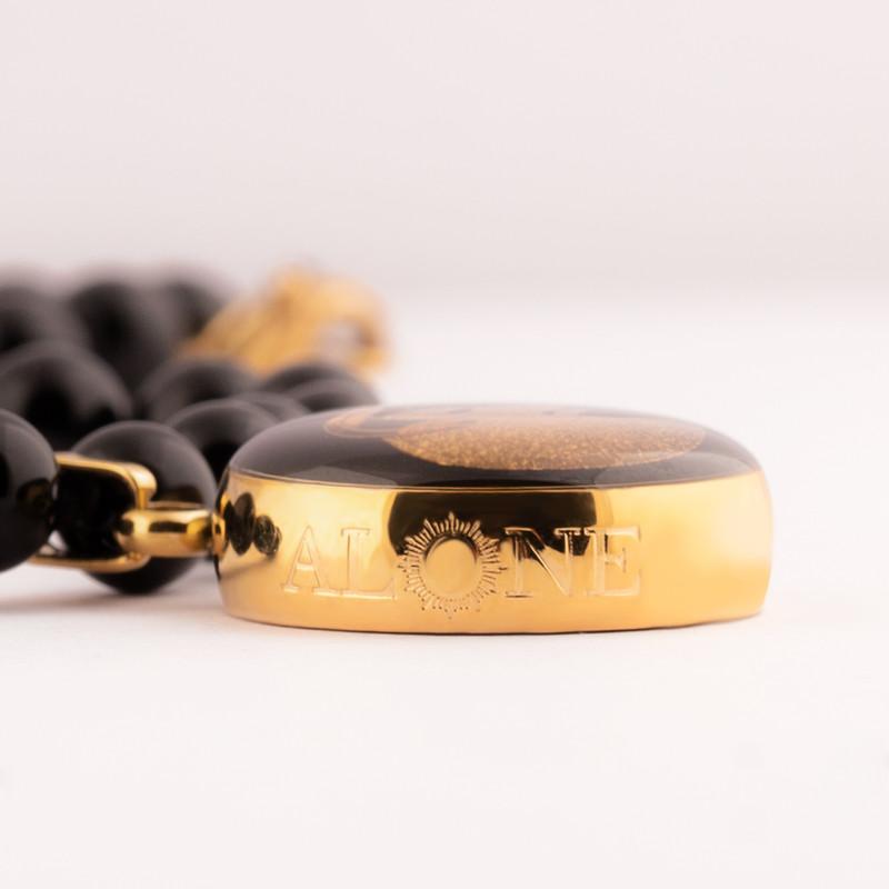 گردنبند طلا 24 عیار زنانه الون طرح نماد ماه فروردین