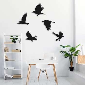 استیکر چوبی طرح پرنده مجموعه ۵ عددی