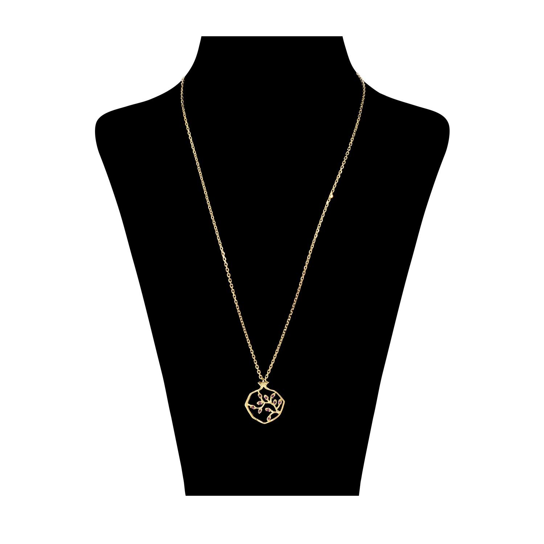 گردنبند نقره زنانه طرح انار کد M017