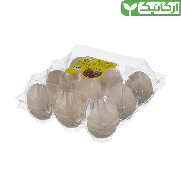 تخم مرغ ارگانیک رضوانی - بسته 9 عددی