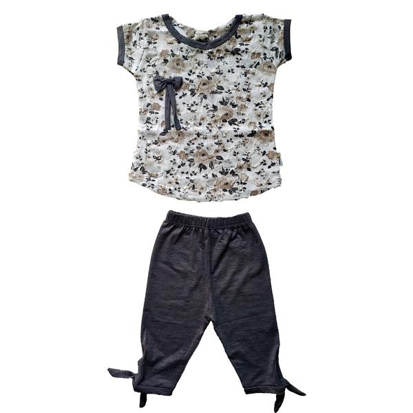 ست تی شرت و شلوارک دخترانه کد G-1005