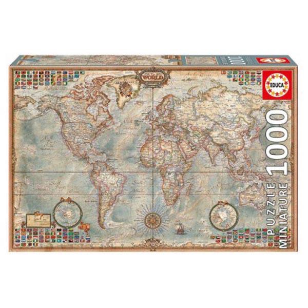 پازل 1000 تکه ادوکا مدل POLITICAL WORLD MAP MINIA