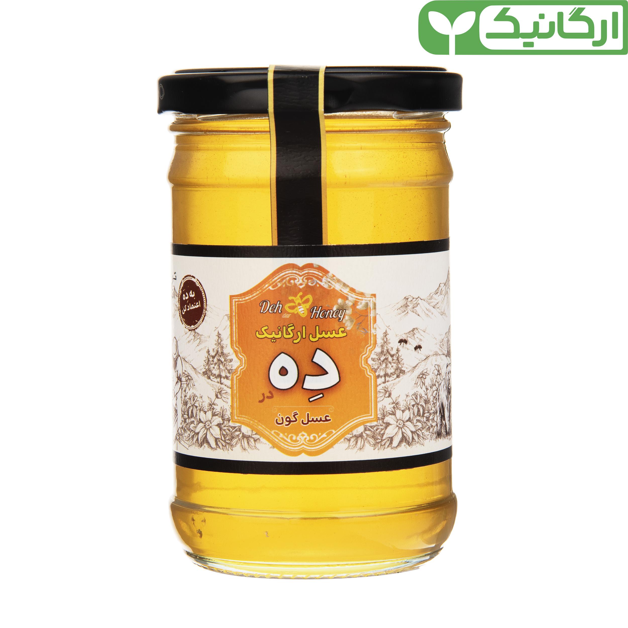 عسل گون ارگانیک ده در - 360 گرم