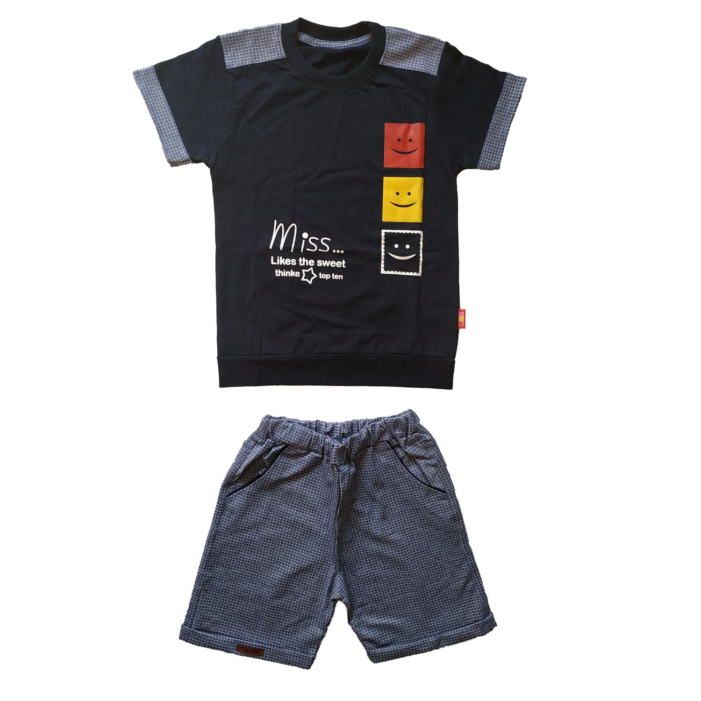 ست تی شرت و شلوارک پسرانه کد  S-1001