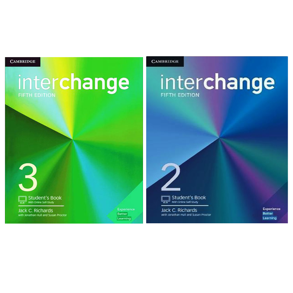 کتاب Interchange اثر جمعی از نویسندگان انتشارات Cambridge دو جلدی