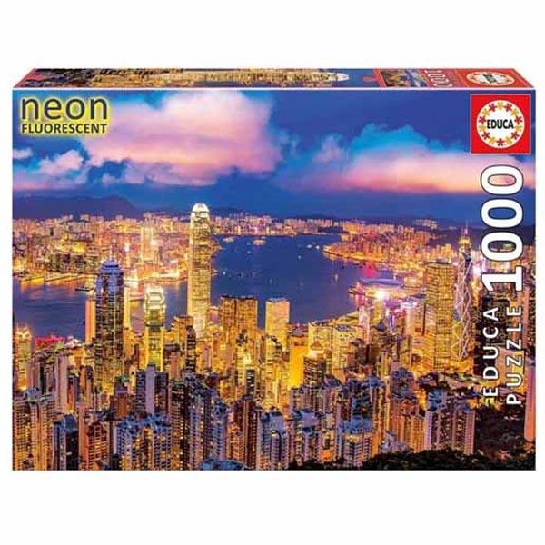 پازل 1000 تکه ادوکا مدل HONG KONG NEON