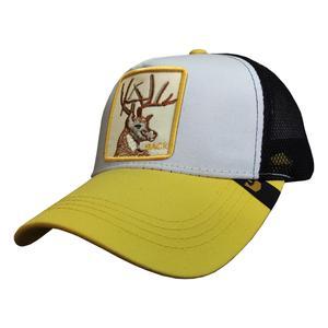 کلاه کپ پسرانه طرح گوزن کد PT-30429 رنگ زرد