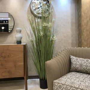 گلدان به همراه گل مصنوعي طرح گل مرداب مدل 300