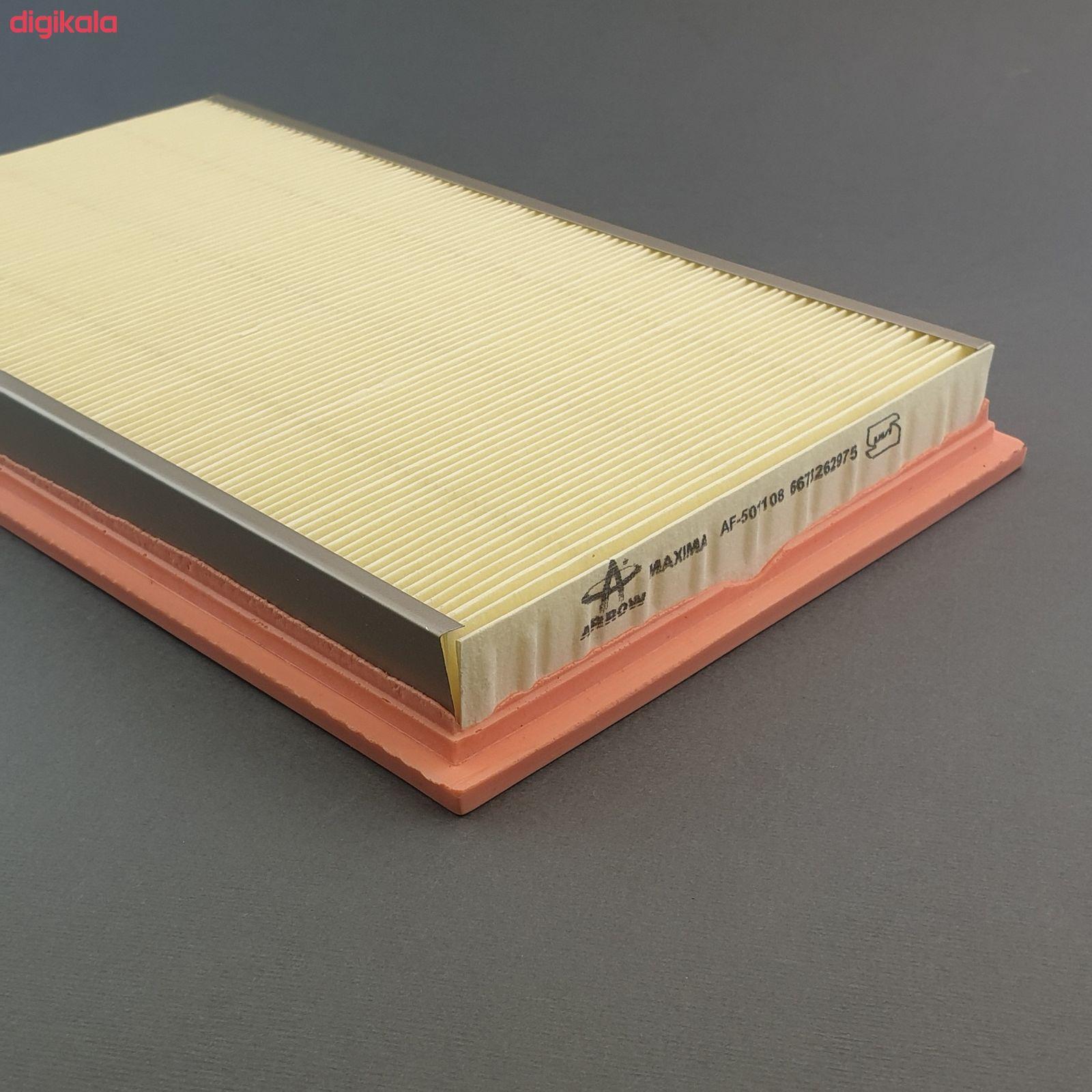 فیلنر روغن خودرو آرو مدل AF50755 مناسب برای نیسان ماکسیما به همراه فیلتر کابین و فیلتر هوا main 1 5