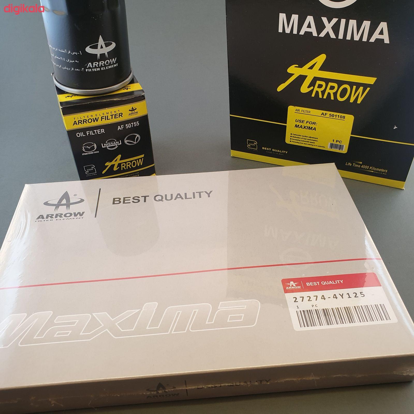 فیلنر روغن خودرو آرو مدل AF50755 مناسب برای نیسان ماکسیما به همراه فیلتر کابین و فیلتر هوا main 1 1