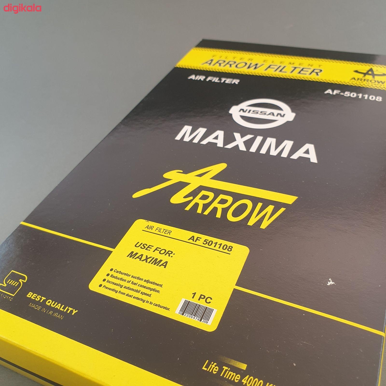 فیلنر روغن خودرو آرو مدل AF50755 مناسب برای نیسان ماکسیما به همراه فیلتر کابین و فیلتر هوا main 1 4