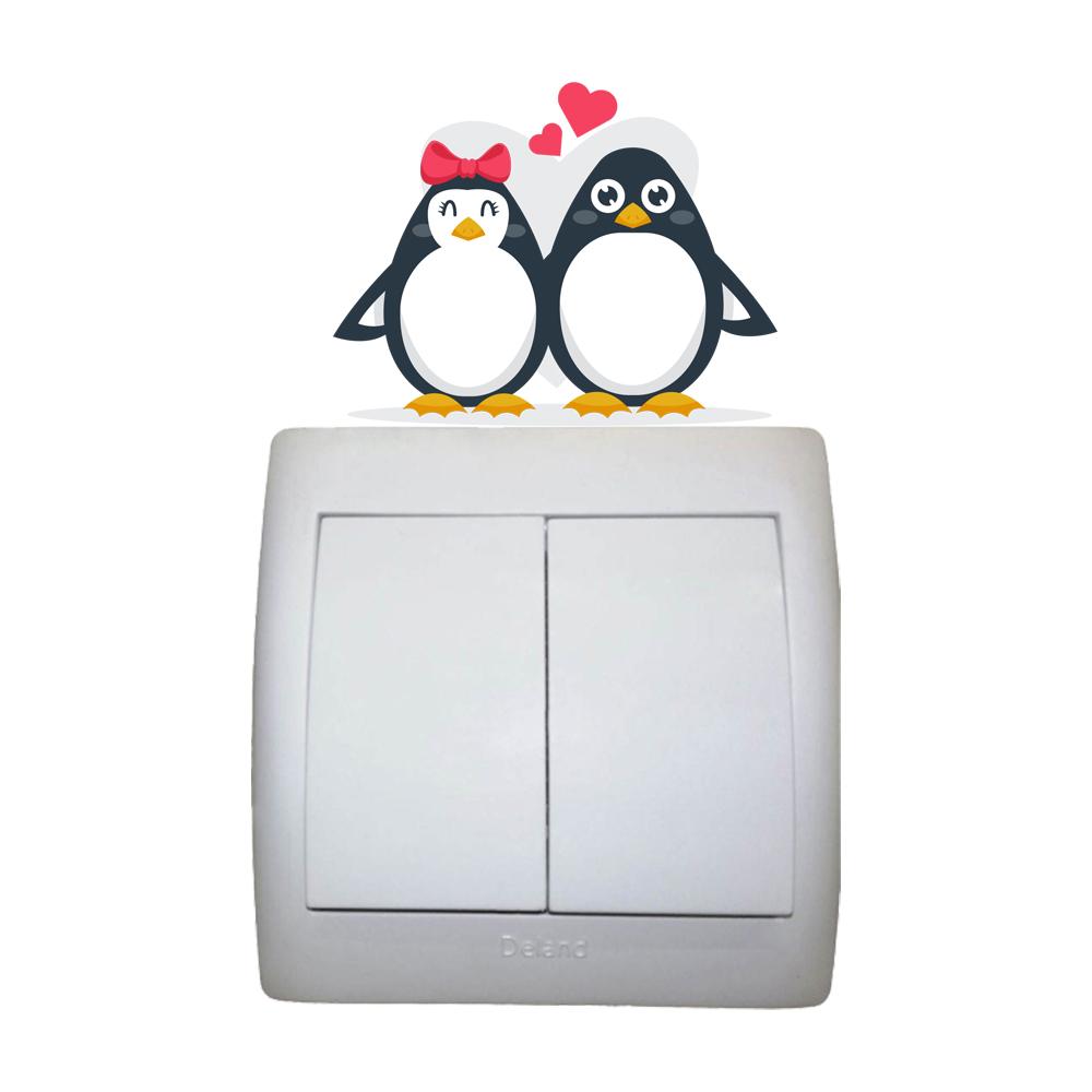 استیکر فراگراف FG طرح پنگوئن های نازنازی مدل HSE 032