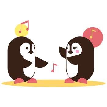 استیکر مستر راد طرح رقص پنگوئن ها مدل HSE 031