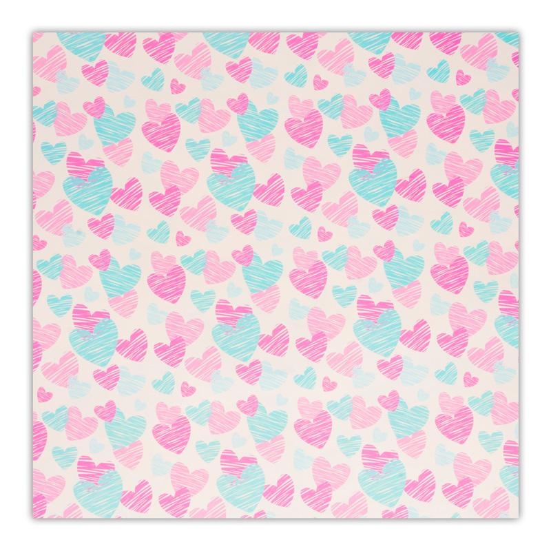 کاغذ کادو طرح قلبی کد 03 بسته 5 عددی