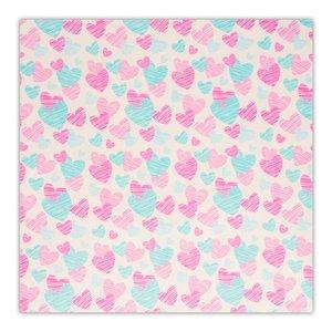کاغذ کادو چاپ آقا طرح قلبی کد 03 بسته 5 عددی