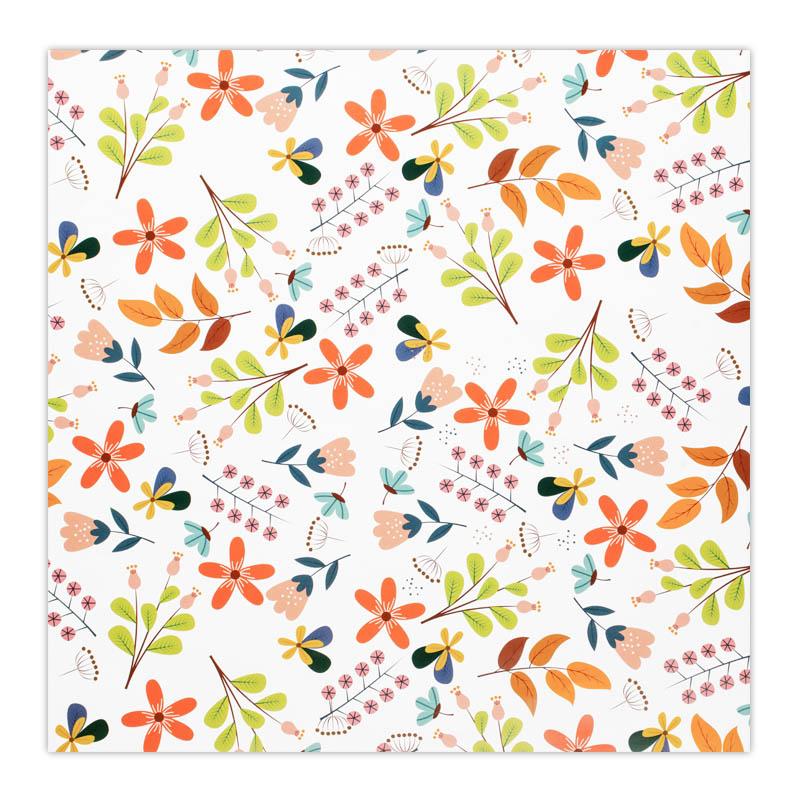 کاغذ کادو طرح گل های بهاری کد 01  بسته 5 عددی