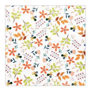 کاغذ کادو چاپ آقا طرح گل های بهاری کد 01  بسته 5 عددی
