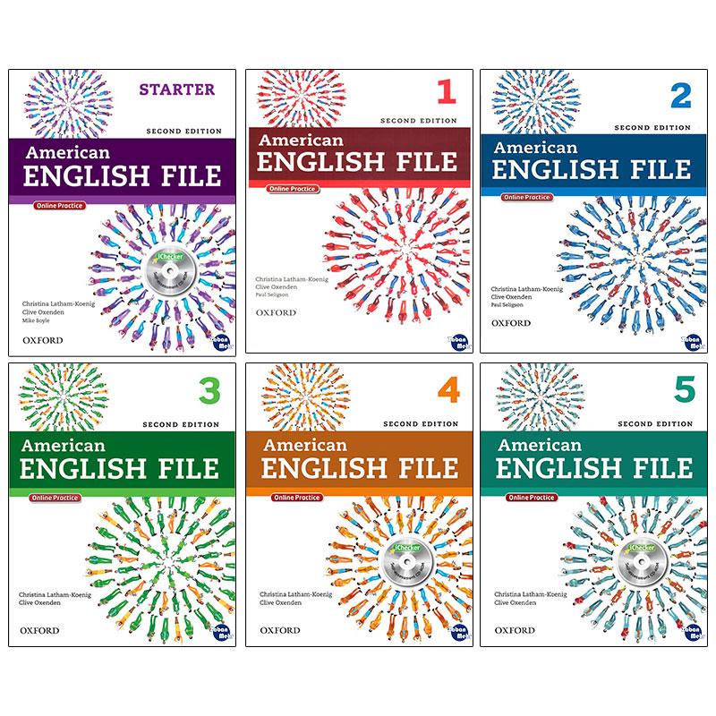 خرید                      کتاب American English File اثر جمعی از نویسندگان انتشارات زبان مهر 6 جلدی