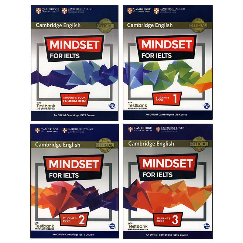 کتاب MINDSET FOR IELTS اثر جمعی از نویسندگان انتشارات زبان مهر 4 جلدی