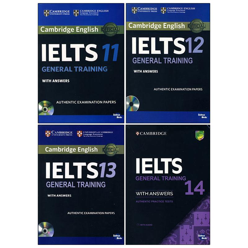 کتاب  Ielts general Training اثر جمعی از نویسندگان انتشارات زبان مهر جلد 11 تا 14